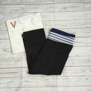 vsx womens s vs knockout crop leggings black blue